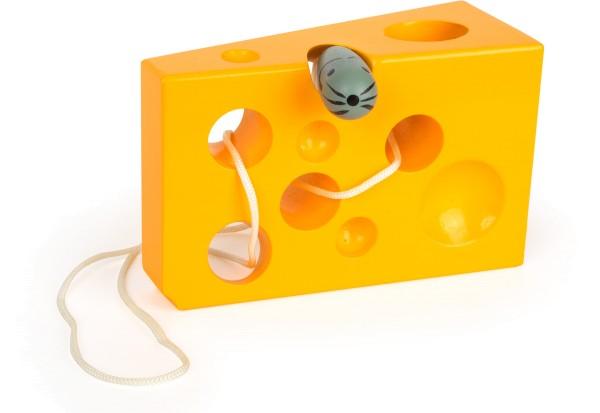 Legler, Fädelspiel, Käse, und, Maus, gelb, 4020972075703, 7570