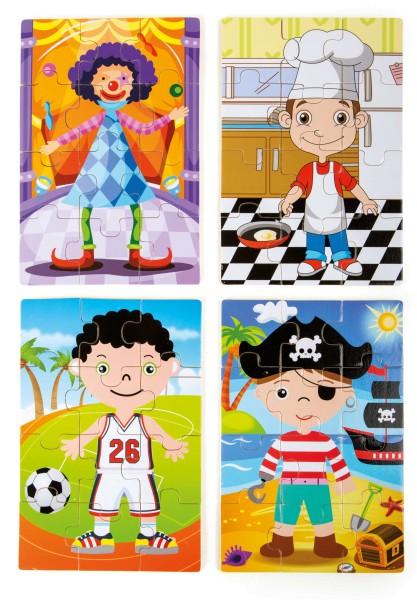 """Legler, Puzzle-Box, 4, in, 1, """"Jungs, im, Kostüm"""", 48, Teile, 4020972101723, 10172"""