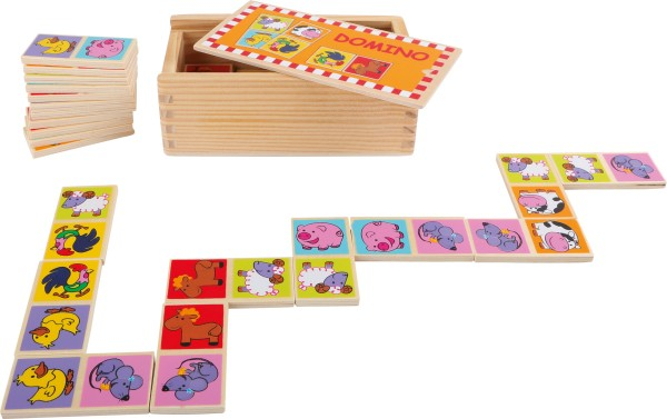 Legler, Domino, Zootiere, 28, Teile, 4020972042200, 4220
