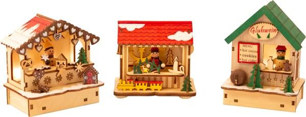 Legler, Lampen-Set, Weihnachtsmarkt, 3er, Set, 4020972113900, 11390