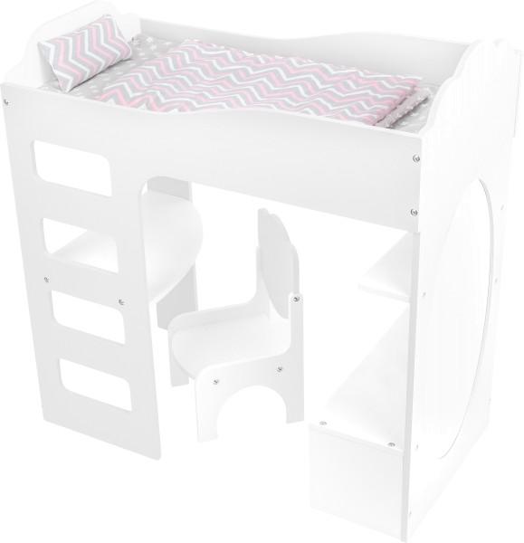 Legler, Puppenhochbett, mit, Schreibtisch, weiß, 4020972120250, , 12025