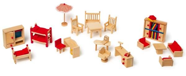 Legler, Puppenmöbel, mit, Garten, 22, Teile, 4020972072191, 7219