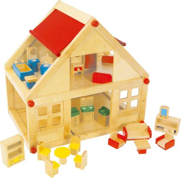 Legler, Puppenhaus, mit, Möbeln, , 4020972072535, 7253