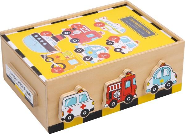 Legler, Puzzle-Box, Fahrzeuge, 27, Teile, 4020972015914, 1591