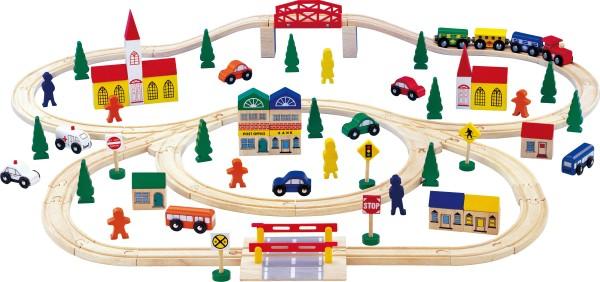 Legler, Holzeisenbahn, groß, 100, Teile, 4020972010018, 1001