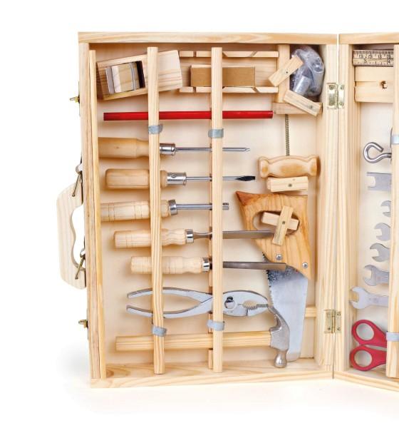 Legler, Werkzeugkoffer, Deluxe, 48, Teile, 4020972022417, 2241
