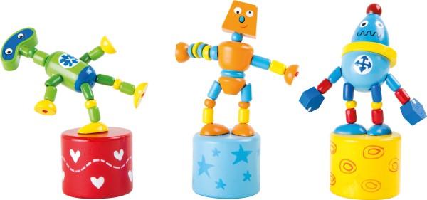 Legler, Drückfiguren, Roboter, 3er, Set, 4020972101570, 10157