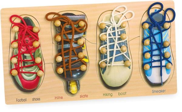 Legler, Fädelspiel, Schuhe, binden, 4020972081582, 8158