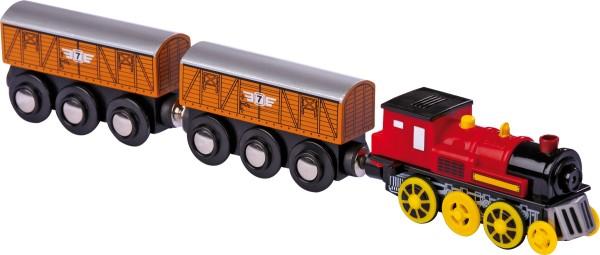 Legler, Lokomotive, elektrisch, , mit, zwei, Anhängern, 4020972058027, 5802