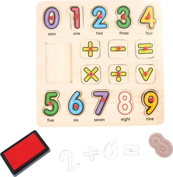 Legler, Stempel, und, Puzzle, Mathematik, 17, Teile, 4020972100788, 10078