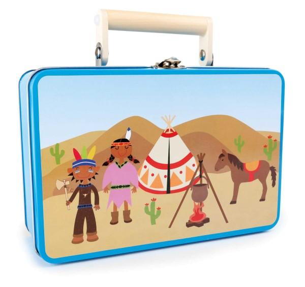 Legler, Kinderkoffer, Indianer-Set, 4020972039224, 3922