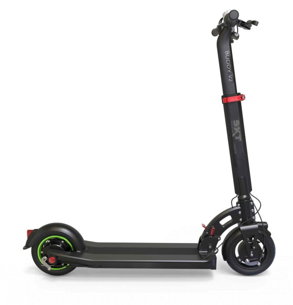 SXT Buddy V2 (schwarz) - E-Scooter Seitenansicht