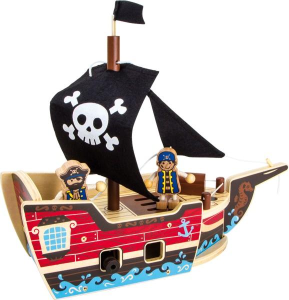 Legler, Holzbausatz, Piratenschiff, 4020972095381, 9538