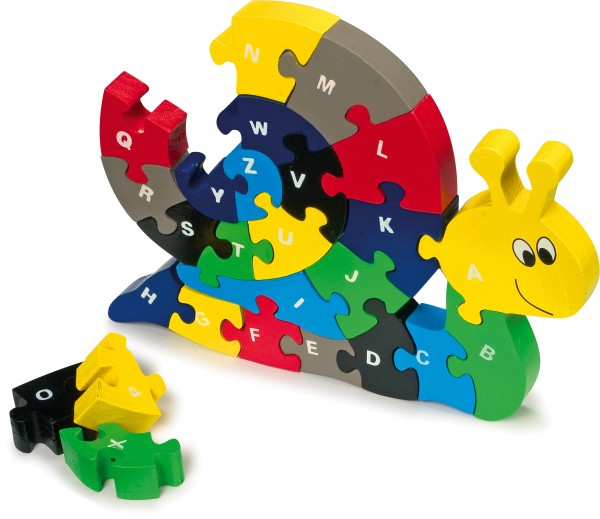Legler, ABC-Puzzle, Schnecke, 26, Teile, 4020972019929, 1992