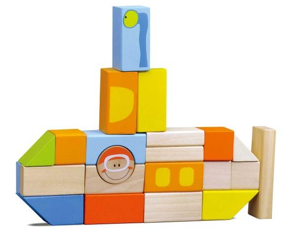 Legler, Holzbausteine, Unterwasserwelt, 100, Teile, 4020972043337, 4333