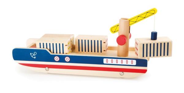 Legler, Containerschiff, aus, Holz, 8, Teile4020972101587, 10158