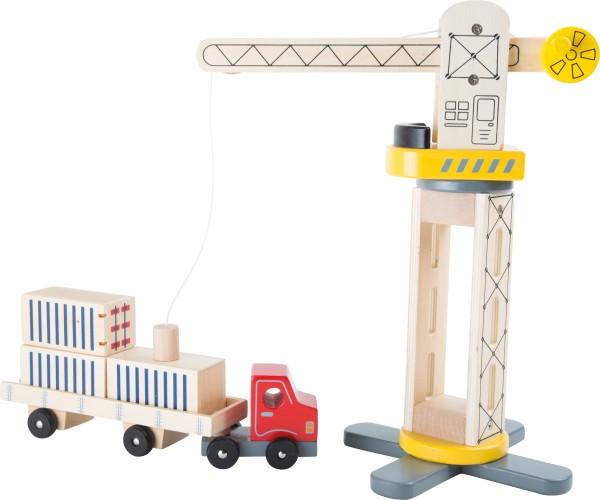 Legler, Kran, und, Transporter, aus, Holz, 6, Teile, 4020972101617, 10161