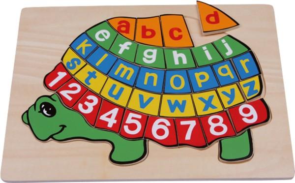 Legler, Holzpuzzle, ABC, Schildkröte, 39, Teile, 4020972024237, 2423