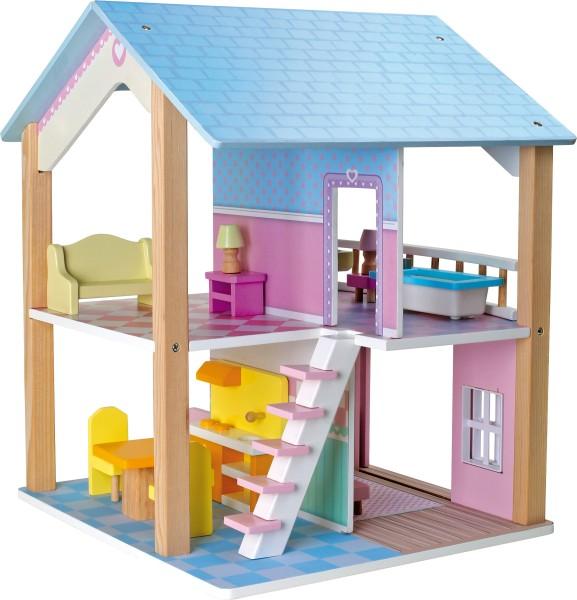 Legler, Puppenhaus, Blaues, Dach, 2, Etagen, drehbar, 4020972031105, 3110