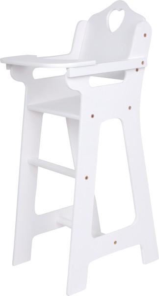 Legler, Puppenhochstuhl, mit, klappbarem, Tisch, weiß, 4020972028723, 2872