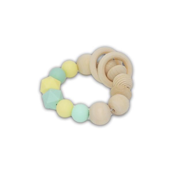 greifling, hexagon, gelb, mint, ringe