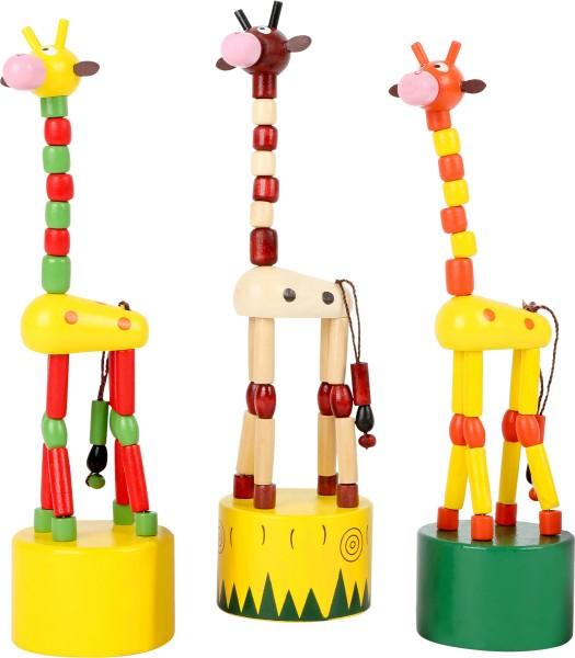 Legler, Drückfiguren, Giraffen, 3er, Set, 4020972079961, 7996