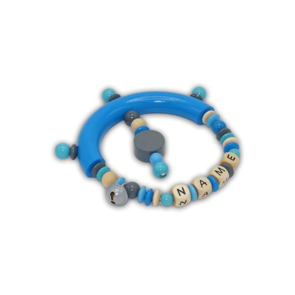 greifling, glocke, kreis, rillenperle, blau, grau