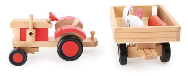 Legler, Traktor, mit, Tieren, 7, Teile, 4020972071583, 7158